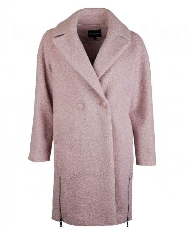 Astrakhan-effect Cloth Coat