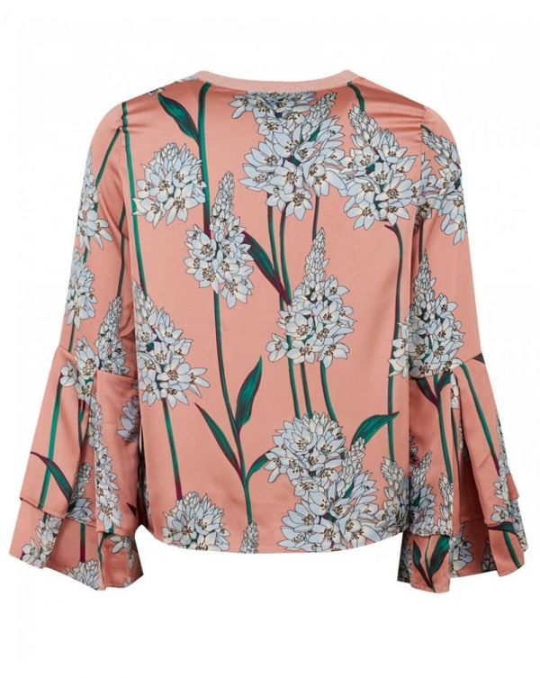 Floral Ruffle Detail Top