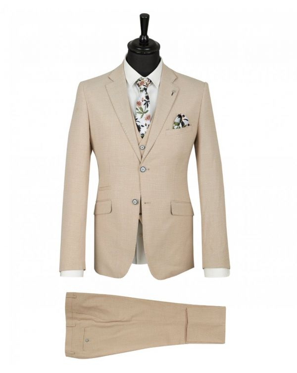 3 Piece Linen Mix Suit