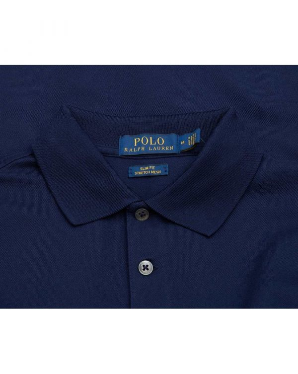 Slim Fit Mesh Polo