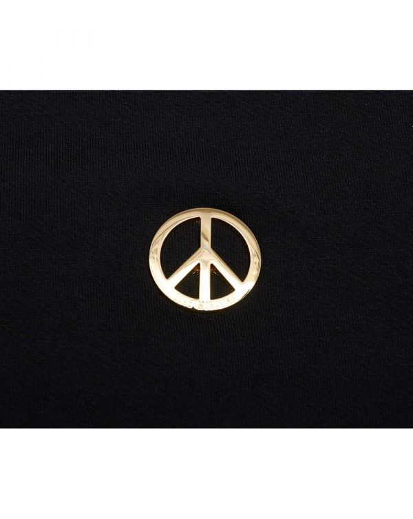 Metal Gold Peace Logo Fitted Sweat