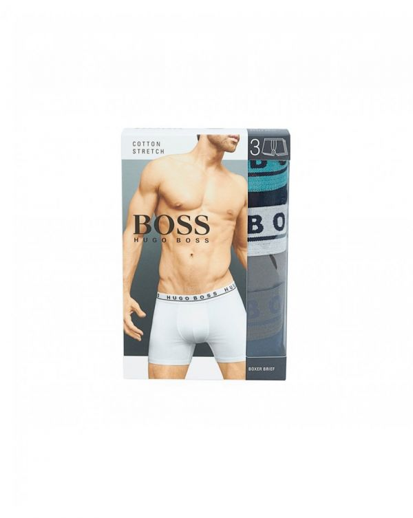 3 Pack Contrast Waistband Boxers