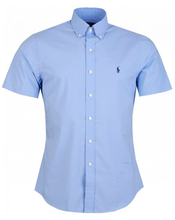 Slim Fit Stretch Short Sleeved Shirt