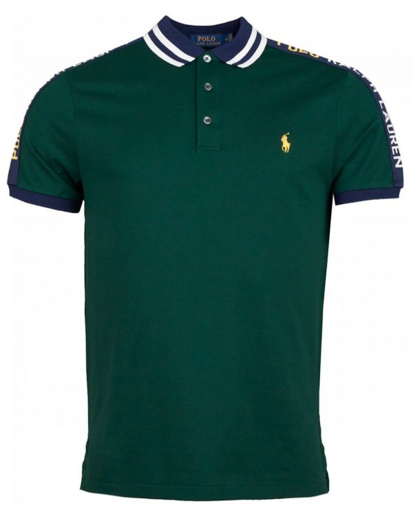 Taped Sleeve Slim Fit Polo Shirt