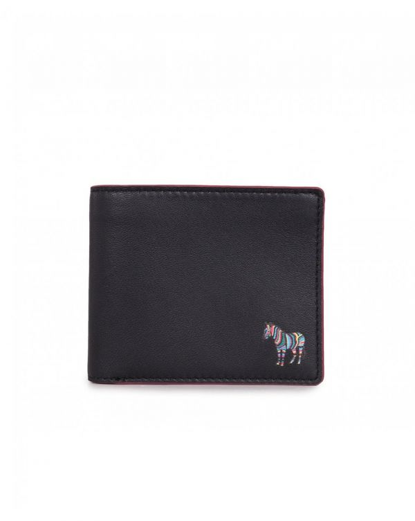 Leather Coin Pocket Zebra Wallet