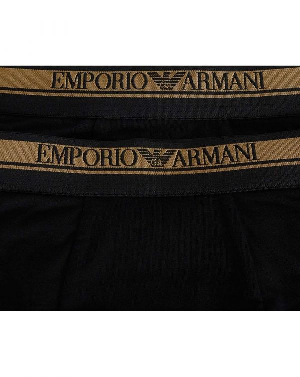 2 Pack Gold Waist Band Trunks