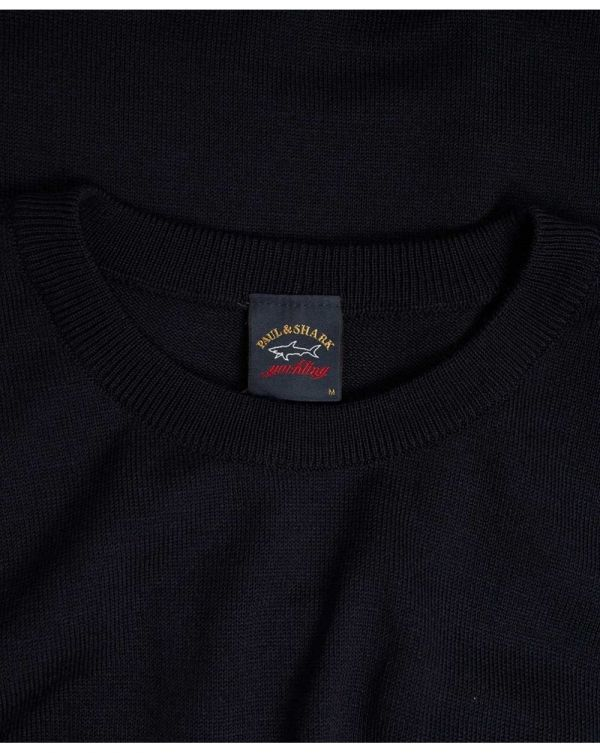 Arm Patch Crew Neck Jumper