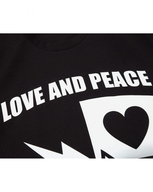 Love And Peace Crew Neck T-shirt