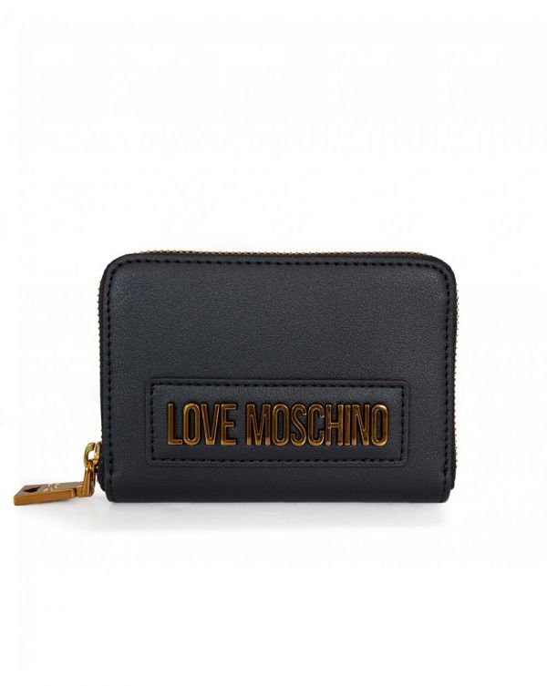 Letter Logo Small Zip Around Purse