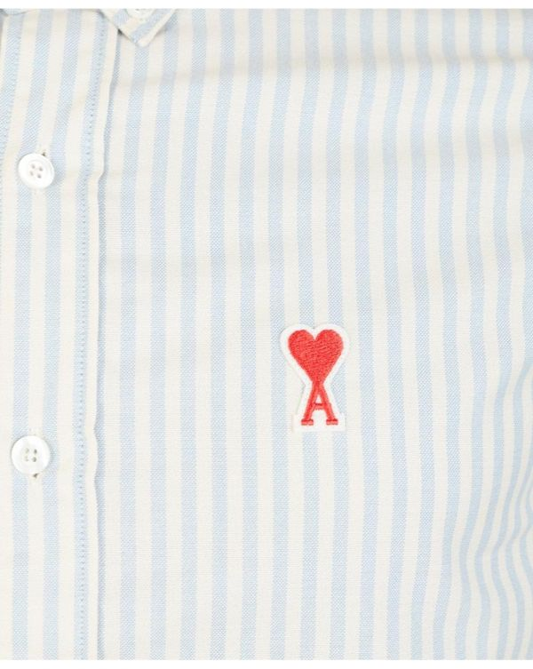 Heart Logo Striped Oxford Shirt