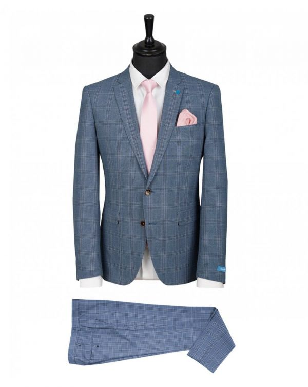 Two Piece Check Suit