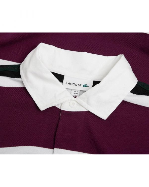Striped Heavy Rugby Polo Shirt