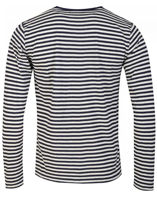 Long Sleeved Fine Striped T-shirt