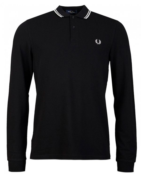 Slim Fit Long Sleeved Tipped Polo
