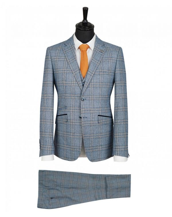 3 Piece Check Suit
