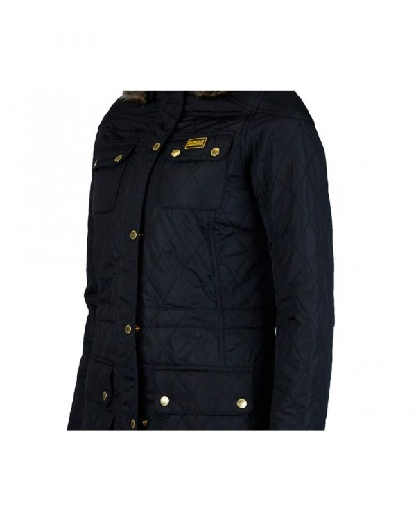 Enduro Detachable Hood Quilted Parka