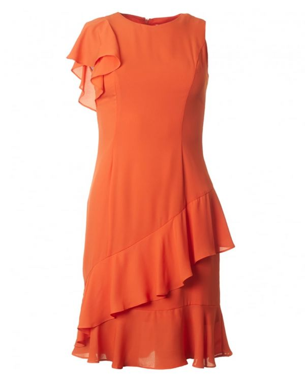Maggie Asymetric Frill Dress