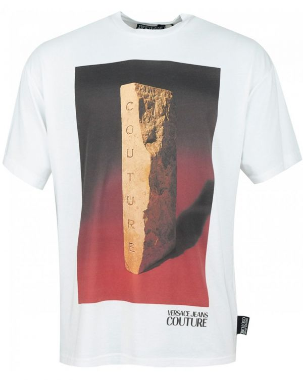 Concrete Photo Print Oversize T-shirt