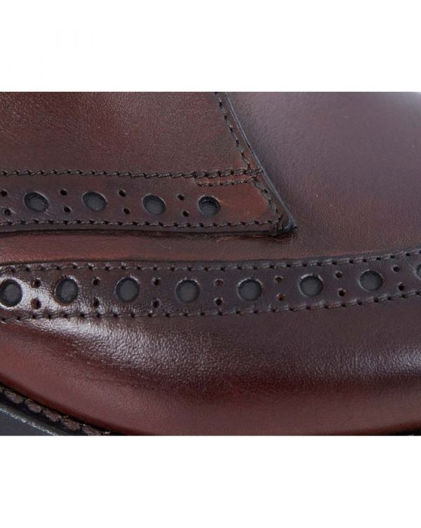 Wingtip Leather Brogue Boots