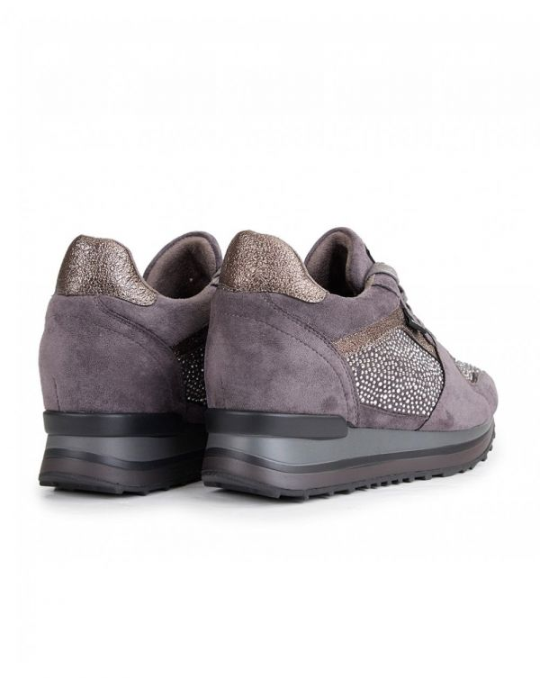 Suedette Wedge Trainers