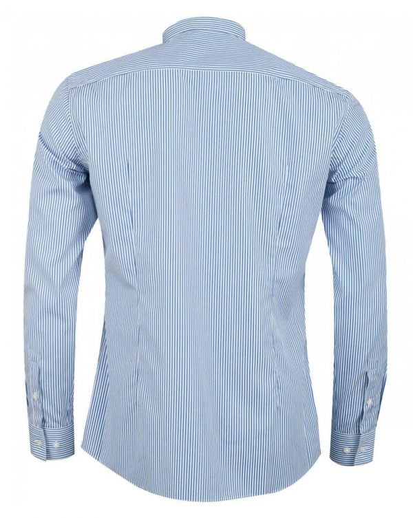 Jorris Striped Slim Fit Grandad Shirt