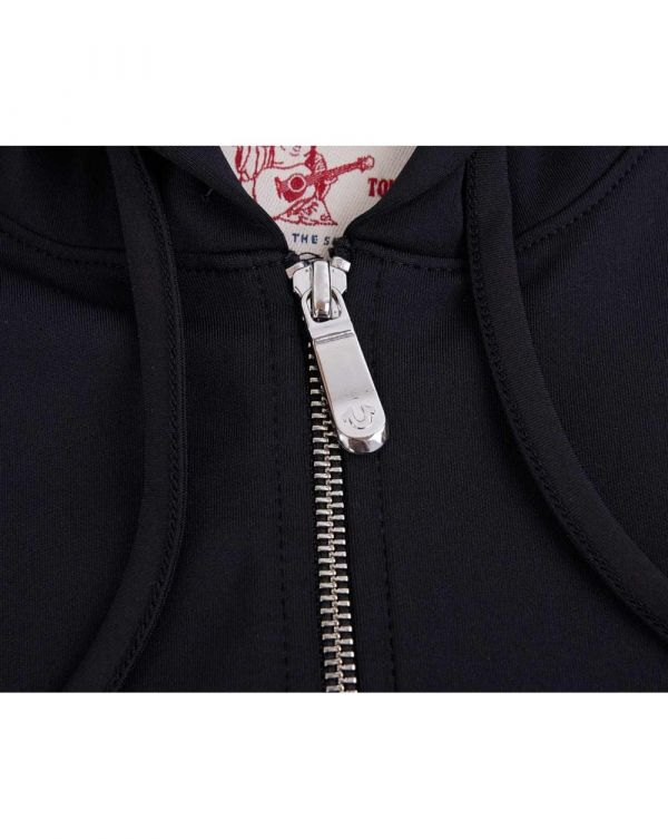 Active Monogram Logo Zip Through Hoody