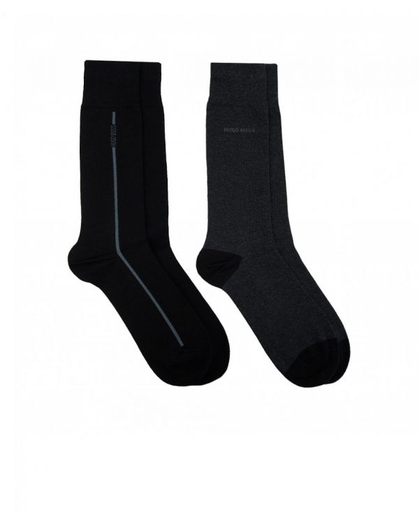 2 Pack Of Logo Toe And Heel Socks