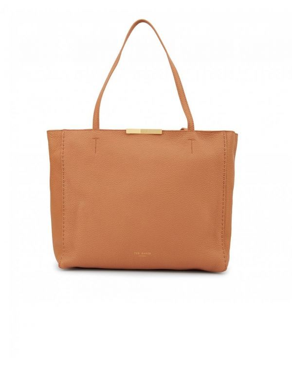 Pebbled Leather Shopper