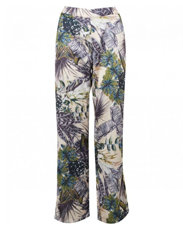 Tropical Print Wide Trousers