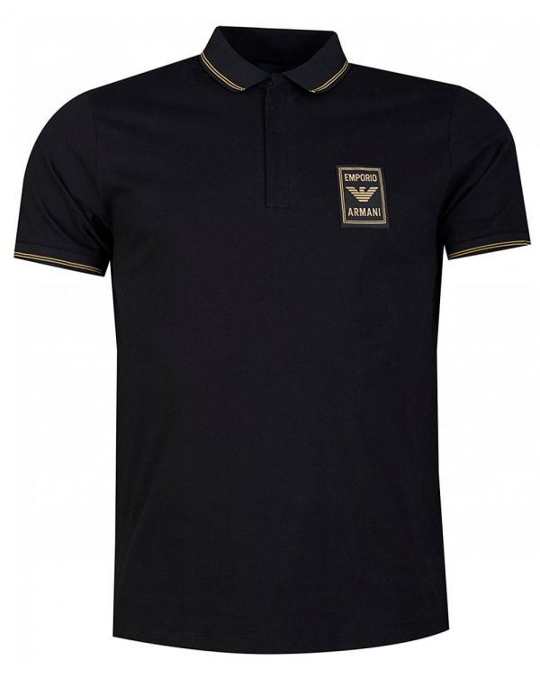 Contrast Eagle Patch Short Sleeved Polo