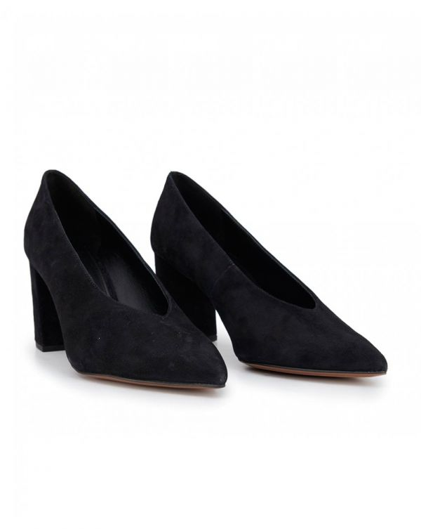 Cambria Suede Pointed Heel Pumps