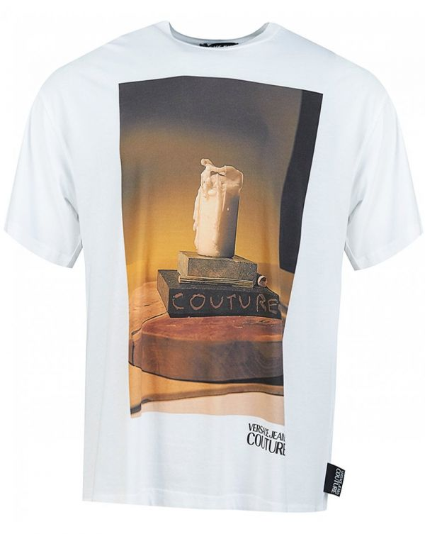 Candle Photo Print Oversize T-shirt