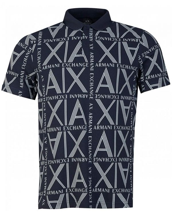 All Over Ax Logo Polo