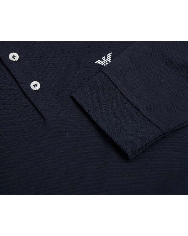Tipped Long Sleeved Slim Fit Polo