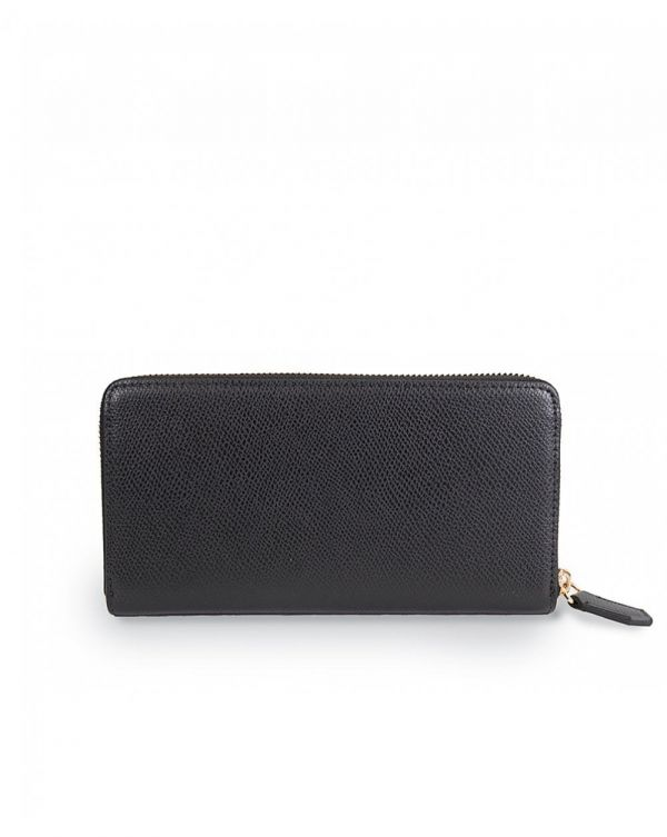 Horizontal Design Garnet Wallet With Zip And Logo