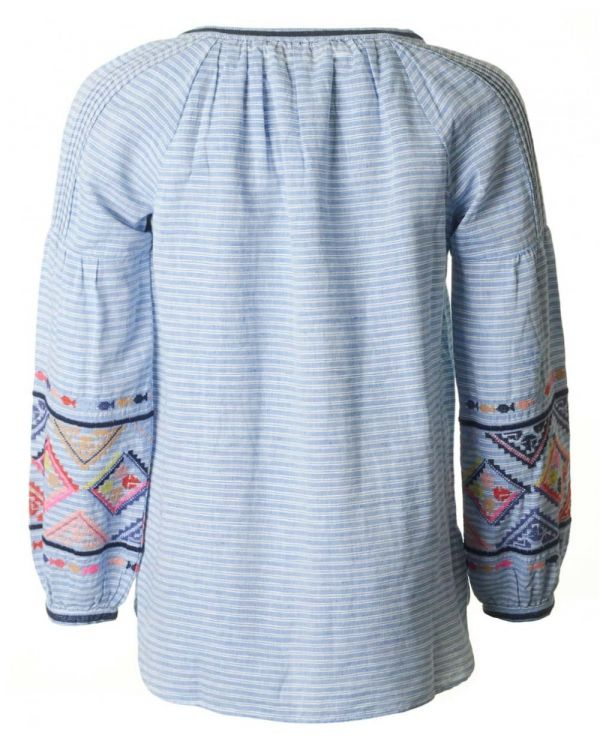 Long Sleeved Embroidered Blouse