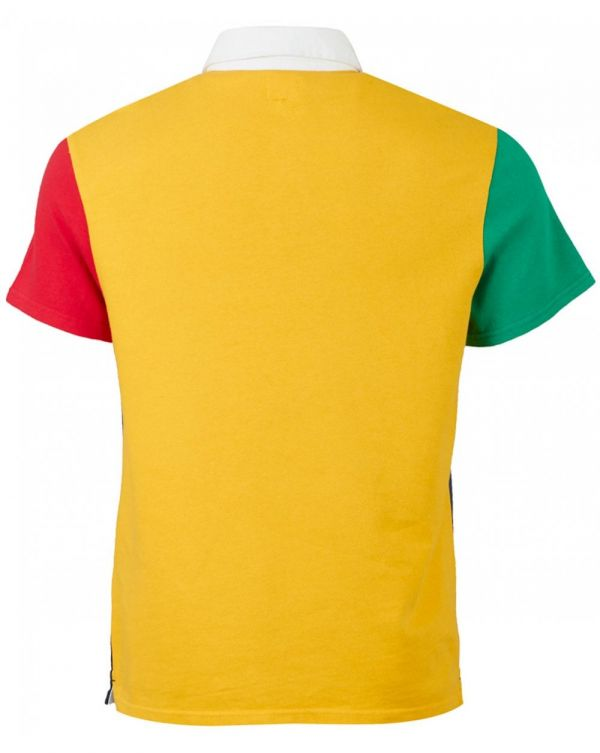 Colour Block Rugby Polo Shirt