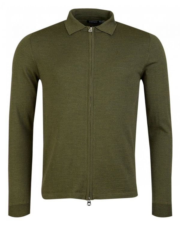 Nile Full Zip Through Merino Knit Polo