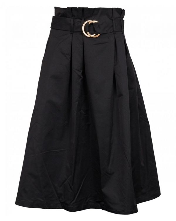 Rabine Belted Flare Skirt