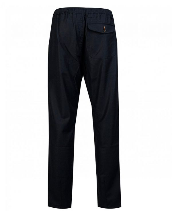 Drawstring Flannel Track Trousers