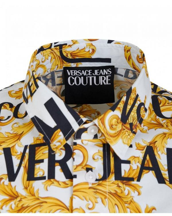 Slim Fit All Over Baroque Print Shirt