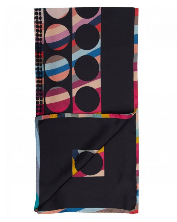Dots And Spots Swirl Square Scarf