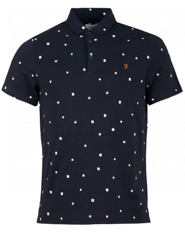 Field Star Print Polo Shirt