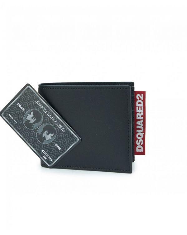 Leather Dsquared2 Tab Wallet