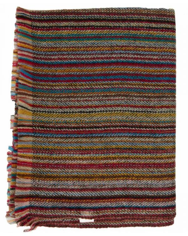 Wool Stripe Wool Herringbone Scarf