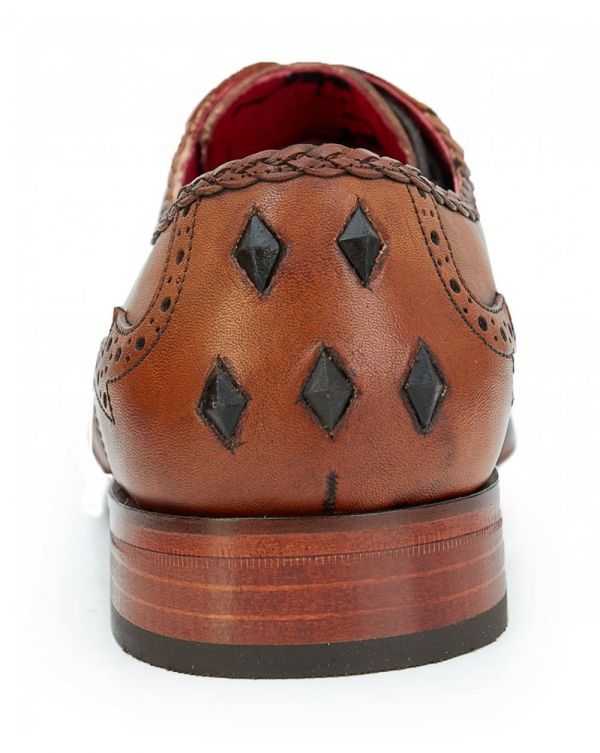 Scarface Weave Detail Leather Brogues