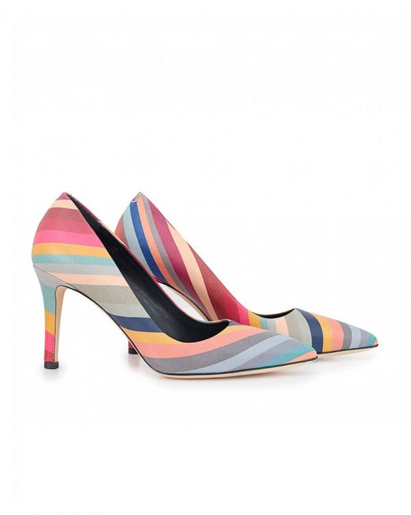 Blanche Swirl Court Shoes