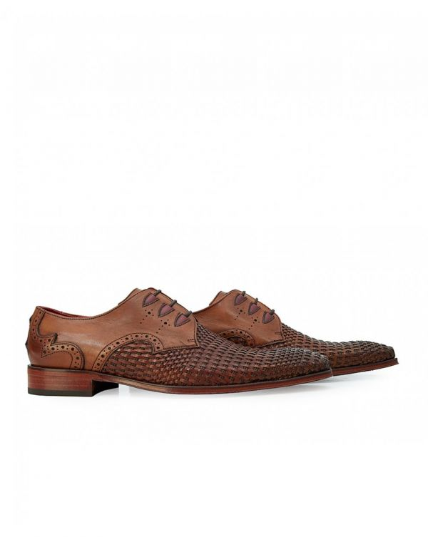 Scarface Basket Weave Leather Shoes