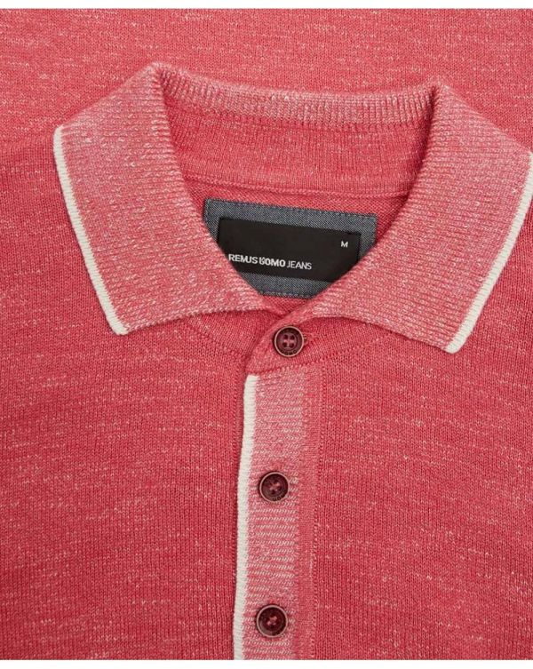 Contrast Trim Knitted Polo Shirt