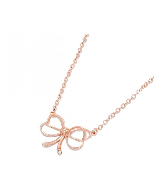 Lahri Small Heart Bow Necklace